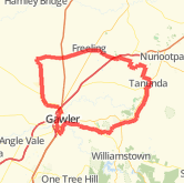 Gawler Wheelers-ROUTE53A-Gawler-Cockatoo Valley-Lyndoch-Tanunda-Seppeltsfield-Freeling-Templers-Wasleys-Gawler-UNDULATING