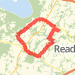 Hilly 9.5 Miles (All Backroads) Run route image