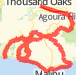 8.5k mullholland decker encinal latigo Bike Ride route image