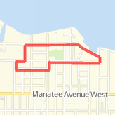 Walked 1.95 mi on Riverview to lychee st to st Stevens to 22 to manatee and home