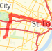 City out and back Bike Ride route image