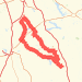 300K Italy Brevet Bike Ride route image
