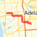 9.50km road cycling on 20/01/2014 Bike Ride route image