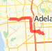 9.95km road cycling on 21/01/2014 Bike Ride route image