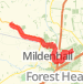 Mildenhall High Lodge Ride Bike Ride route image
