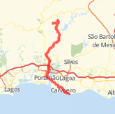 Carvoeiro Cycling Routes The Best Cycling Routes In Carvoeiro Faro - Portugal map carvoeiro