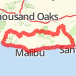PCH from Topanga, to Yerba Buena, mulholland, Old Topanga to Topanga and Back to PCH Bike Ride route image