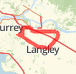 45Km Surrey-Fort Langley City-Langley-Surrey Bike Ride route image