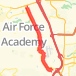 21.50 mile Bike Ride in United States Air Force Academy on Feb 25, 2012 at 02:08 pm Bike Ride route image