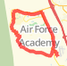 13.92 mile Road Cycling in United States Air Force Academy on May 3, 2012 at 04:21 pm Bike Ride route image