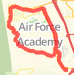 23.12 mile Bike Ride in United States Air Force Academy on May 9, 2012 at 04:10 pm Bike Ride route image