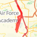 9.33 mile Walk in United States Air Force Academy on May 16, 2012 at 05:41 pm Walk route image