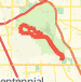 8.5 mile cherry creek run Run route image