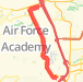 44.17 mile Bike Ride in United States Air Force Academy on May 27, 2012 at 07:39 am Bike Ride route image