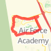 9.72 mile Road Cycling in United States Air Force Academy on Jun 2, 2012 at 06:07 pm Bike Ride route image